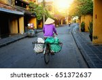 vietnam people vietnamese ride... | Shutterstock . vector #651372637