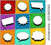 comic book pages set with blank ... | Shutterstock .eps vector #651383563