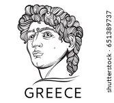 david. the mythological hero of ... | Shutterstock .eps vector #651389737