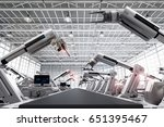3d rendering robot arms with... | Shutterstock . vector #651395467