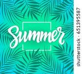 summer   vector postcard ... | Shutterstock .eps vector #651395587