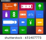 set of transport icons and...