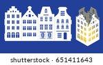 led light lantern for paper... | Shutterstock .eps vector #651411643
