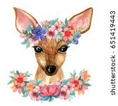 watercolor illustration with a... | Shutterstock . vector #651419443