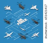 military air force isometric... | Shutterstock .eps vector #651421417