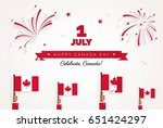 1st of july. happy canada day... | Shutterstock .eps vector #651424297