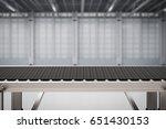 3d rendering rubber conveyor...   Shutterstock . vector #651430153