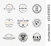 vintage apparel labels  retro... | Shutterstock .eps vector #651435853