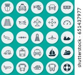 vehicle icons set. collection... | Shutterstock .eps vector #651437977