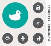 set of 6 child icons set...   Shutterstock .eps vector #651438187