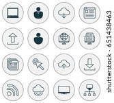 internet icons set. collection...