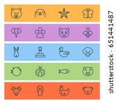 animal icons set. collection of ... | Shutterstock .eps vector #651441487