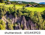 the charming village in the... | Shutterstock . vector #651443923