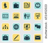 trade icons set. collection of... | Shutterstock .eps vector #651452023
