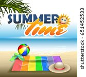 summer vector banner include... | Shutterstock .eps vector #651452533