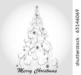 graphic elegant christmas tree | Shutterstock .eps vector #65146069