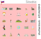 icons of slovakia   vector set | Shutterstock .eps vector #651463843