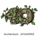 decorative numeral  decorated... | Shutterstock . vector #651469003