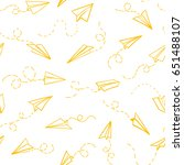 seamless pattern with vector... | Shutterstock .eps vector #651488107