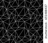 polygonal background. black... | Shutterstock .eps vector #651488437