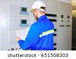 specialist of the industrial... | Shutterstock . vector #651508303