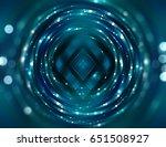 beautiful abstract blue bokeh... | Shutterstock . vector #651508927