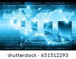 best internet concept of global ... | Shutterstock . vector #651512293