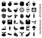diet icons set. set of 36 diet... | Shutterstock .eps vector #651513643