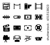 cinema icons set. set of 16... | Shutterstock .eps vector #651513823