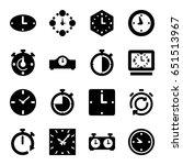 chronometer icons set. set of... | Shutterstock .eps vector #651513967