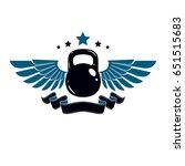bodybuilding weightlifting gym... | Shutterstock .eps vector #651515683