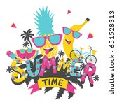summer time. hand drawn... | Shutterstock .eps vector #651528313
