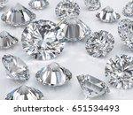many classic round brilliant...   Shutterstock . vector #651534493