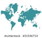 vector map continents country | Shutterstock .eps vector #651536713