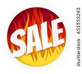hot sale banner on white... | Shutterstock .eps vector #651553243