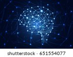 abstract technology science... | Shutterstock .eps vector #651554077