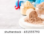 selective protein in powder for ... | Shutterstock . vector #651555793