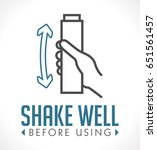 shake well before using icon | Shutterstock .eps vector #651561457