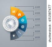 design infographic template 6... | Shutterstock .eps vector #651587677