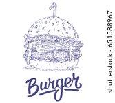 burger.vector illustration of a ... | Shutterstock .eps vector #651588967