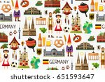 germany travel seamless pattern.... | Shutterstock .eps vector #651593647