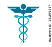 asclepius rod icon image  | Shutterstock .eps vector #651598957