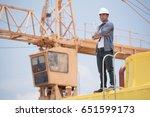 construction engineer | Shutterstock . vector #651599173