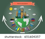 the rise of the world... | Shutterstock .eps vector #651604357