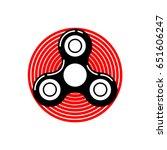 fidget spinner revolving around ... | Shutterstock .eps vector #651606247