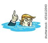 donald trump paris climate... | Shutterstock .eps vector #651612043