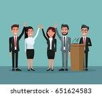 background scene set people in... | Shutterstock .eps vector #651624583