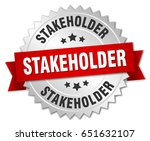 stakeholder round isolated... | Shutterstock .eps vector #651632107