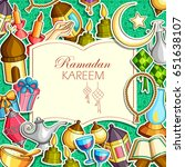 vector illustration of ramadan... | Shutterstock .eps vector #651638107