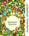vector illustration of eid... | Shutterstock .eps vector #651638137